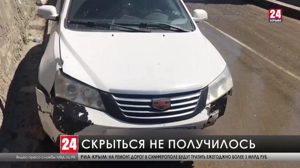 В Алупке полиция задержала водителя, который сбил девушку и скрылся с места происшествия