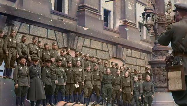 Первый парад Победы 1945 года показали в цвете – видео