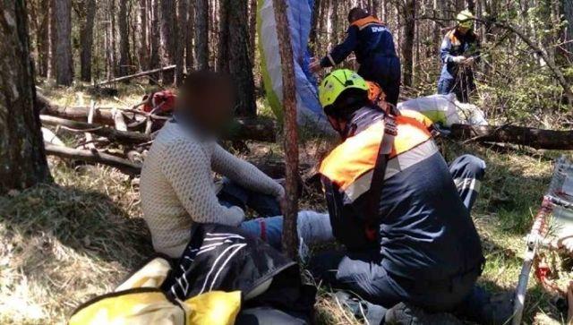 Упавшего в лес парапланериста нашли на склоне горы Ай-Петри спасатели
