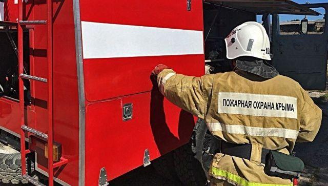 На пожаре в Симферополе эвакуировали десять человек