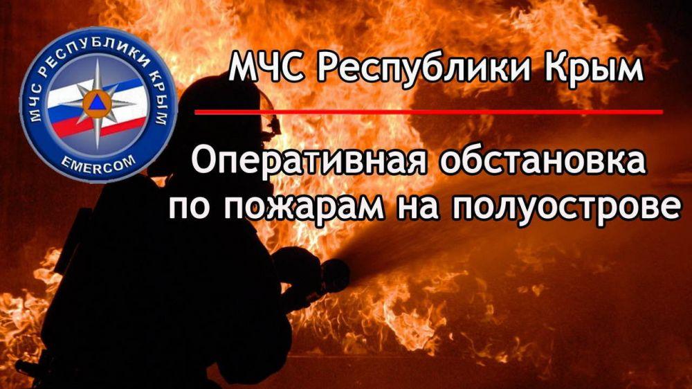 Оперативная обстановка по пожарам на территории Республики Крым: