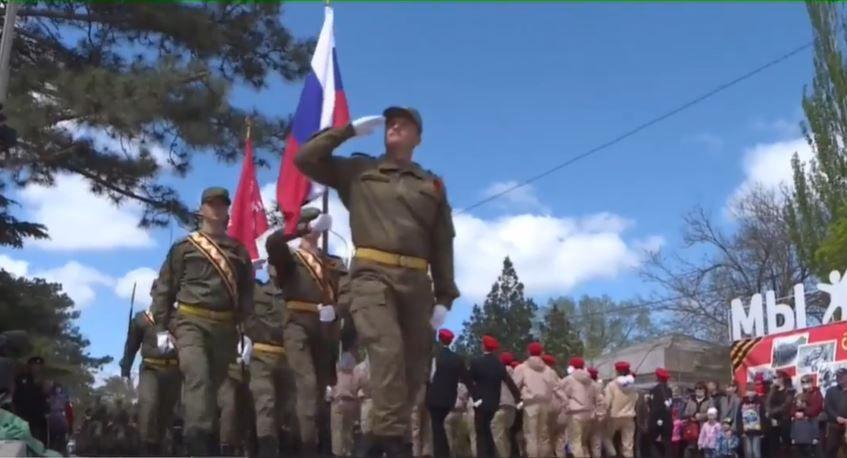 В Ленинском районе впервые за 76 лет прошёл Парад Победы