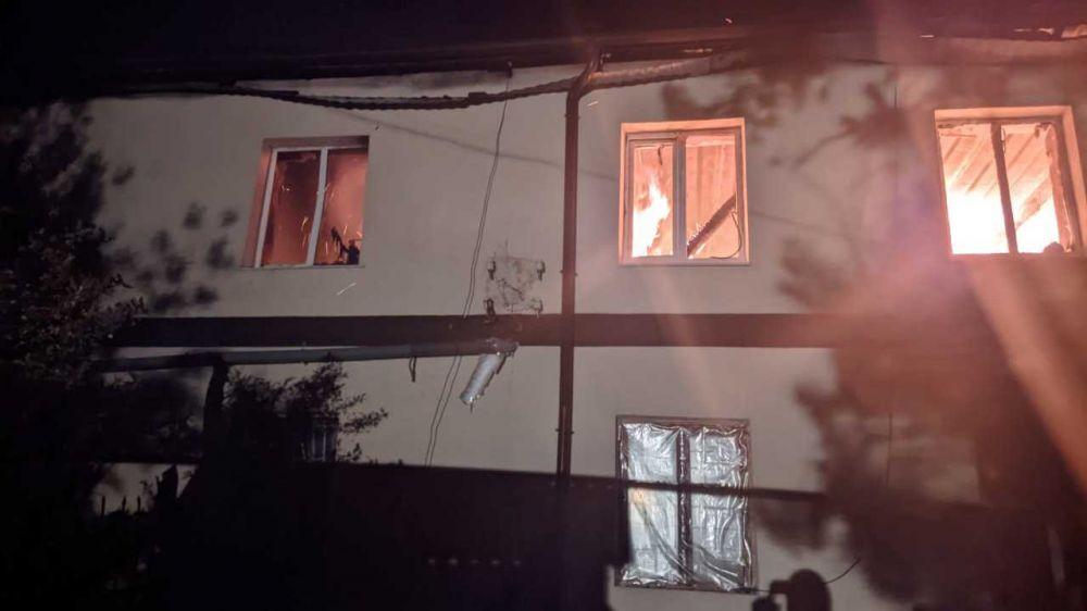 Информация о пожаре в Бахчисарайском районе