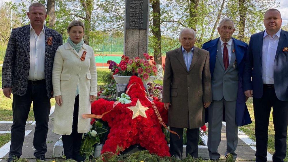 Ольга Торубарова приняла участие в торжественном митинге, посвящённом Дню Великой Победы