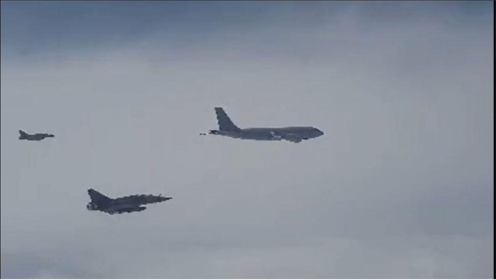 Российский Су-30 перехватил три французских военных самолёта над Чёрным морем