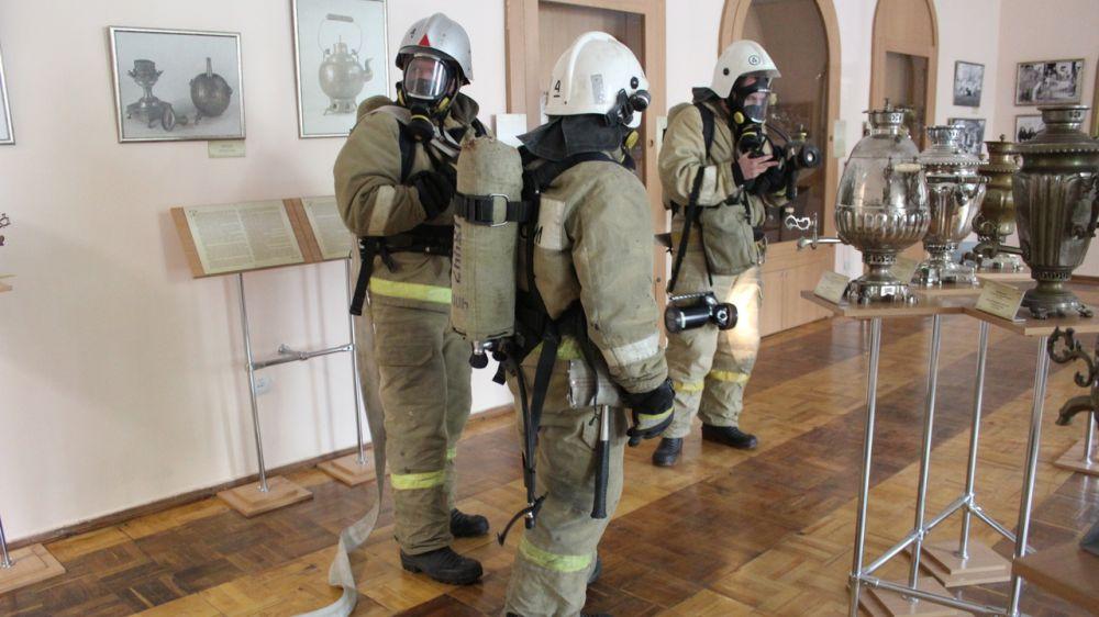 В Крымском этнографическом музее прошли плановые учения МЧС