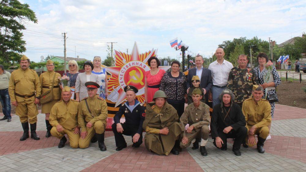 Андрей Рюмшин: В Советском районе в селе Красногвардейское состоялось открытие «Парка героев»