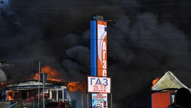 В пожаре на АЗС в Новосибирске пострадали 16 человек, СК возбудил дело