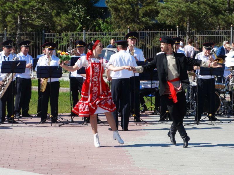 В городе Саки выступил оркестр Культурного центра МВД по Республике Крым
