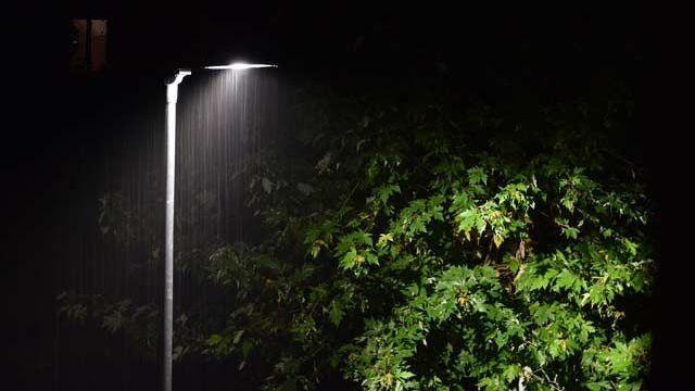 В с.Восход проект уличного освещения практически завершен