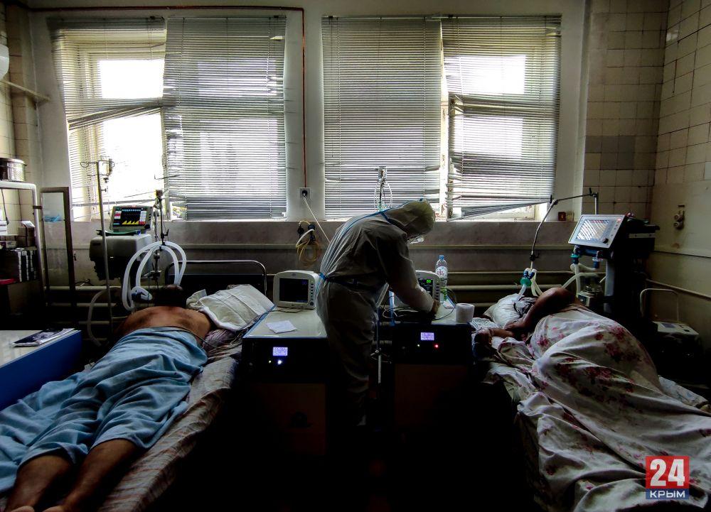 В Крыму 132 пациента с СOVID-19 находятся в тяжёлом и крайне тяжёлом состоянии