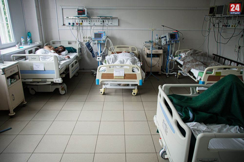 Роспотребнадзор Крыма считает недостаточным количество свободных ковидных коек с учётом роста заболеваемости