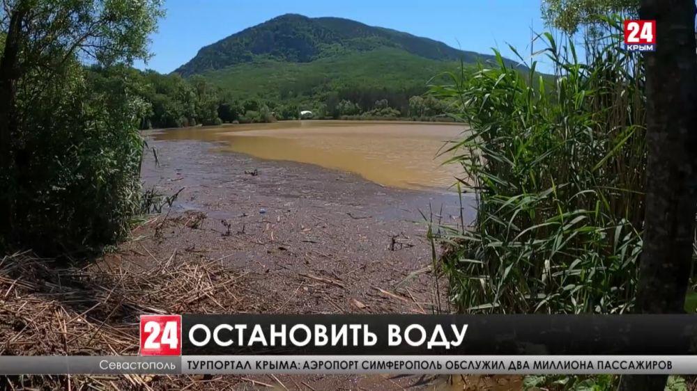 Дорога к севастопольскому лагерю «Горный» затоплена