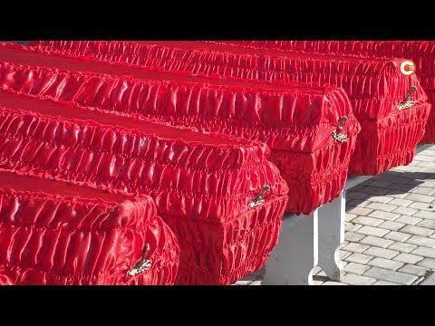 На братском кладбище в селе Оборонное предали земле останки 292 советских бойцов (СЮЖЕТ)