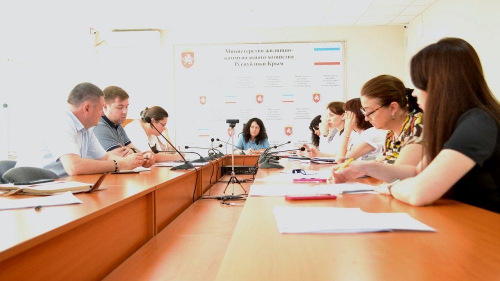 Заместители министра ЖКХ Оксана Механичева и Жанна Дикая провели аппаратное совещание по организации работы с обращениями граждан и вопросам исполнительской дисциплины