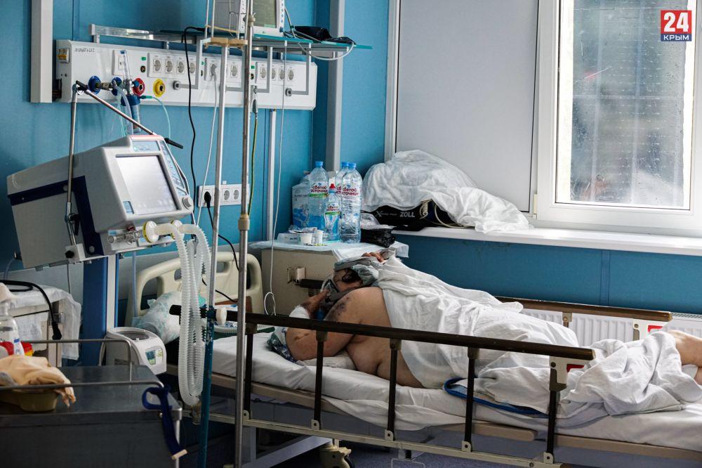 В Крыму увеличился уровень госпитализированных с COVID-19 и внебольничной пневмонией