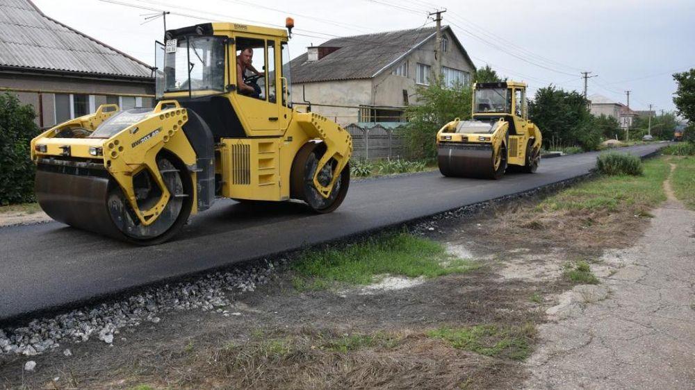 Выполняются работы по ремонту автомобильной дороги по ул. Транспортная