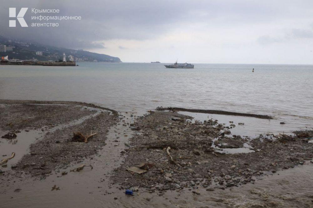 Пляжи Ялты остаются закрытыми для купания