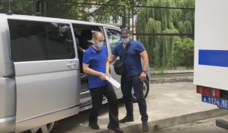 Видео задержания украинского шпиона в Симферополе