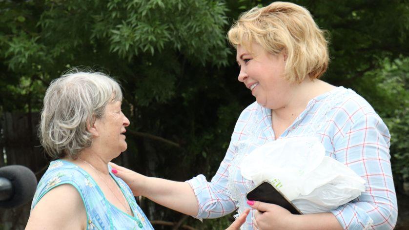 Янина Павленко пообщалась с жителями подтопленных районов Ялты