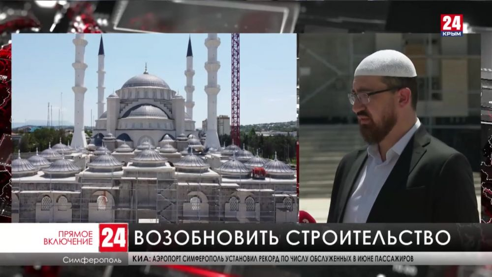 Строительство Соборной мечети должно возобновиться к началу октября