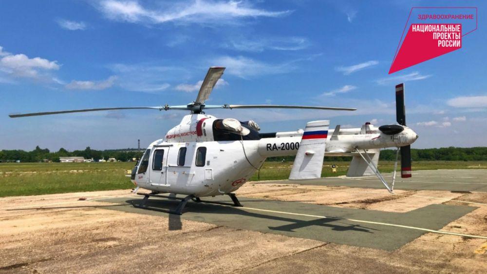 За первое полугодие 2021 года санитарной авиацией Крыма осуществлено 97 вылетов