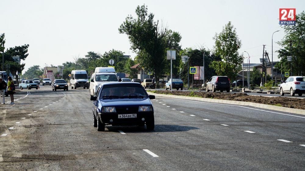 Без пробок к морю: Евпаторийское шоссе в Саках отремонтировали и расширили