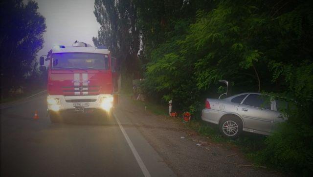 Двое детей получили в травмы в ДТП с грузовиком и легковушкой в Крыму