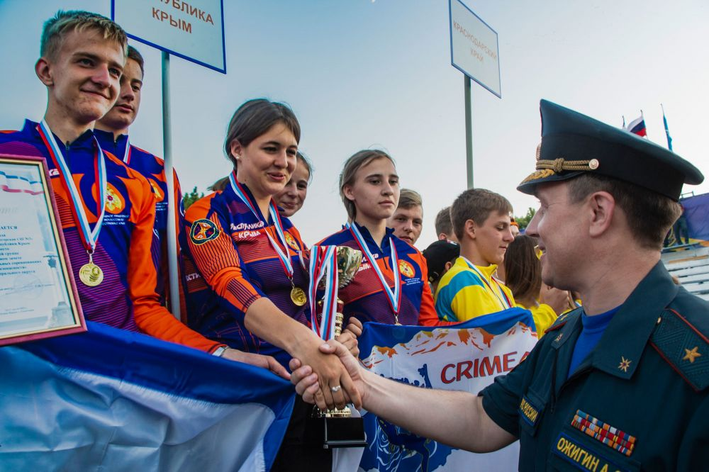 В Крыму завершились XV межрегиональные соревнования «Школа безопасности»