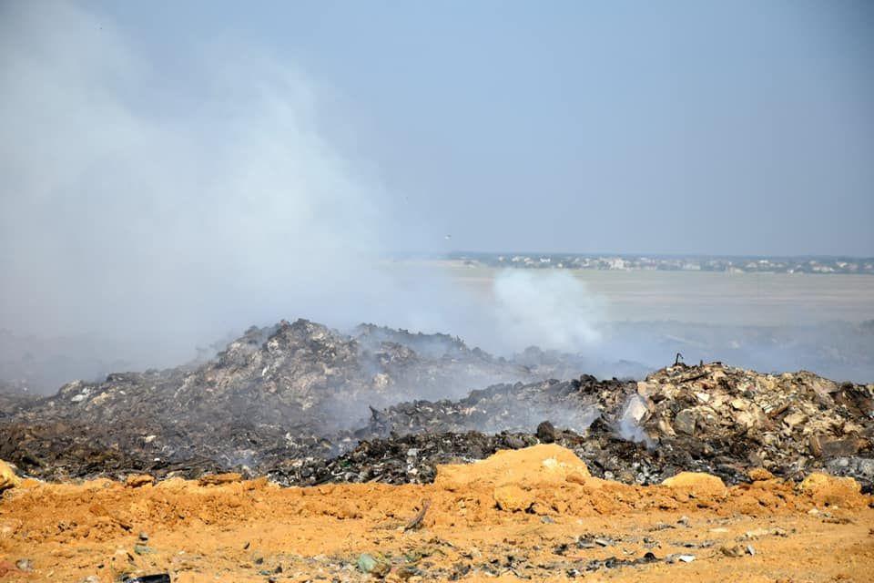 Пожар на мусорном полигоне в Евпатории полностью ликвидирован