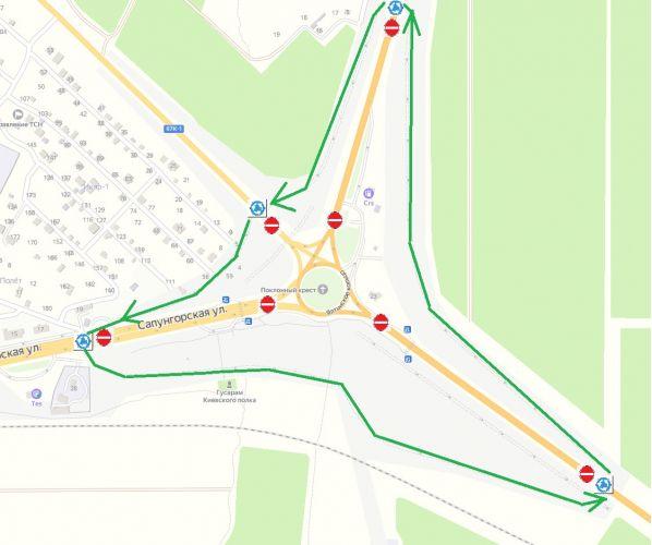 С 25 июля в Севастополе перекроют Ялтинское кольцо