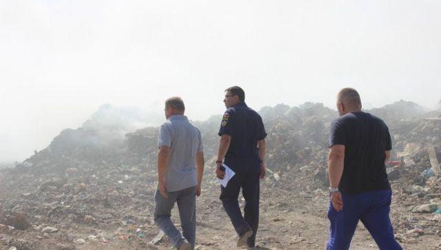 Пожар на мусорном полигоне в Евпатории полностью потушен – МЧС