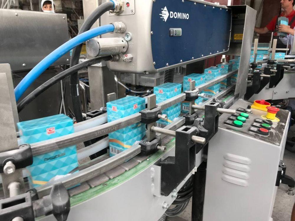 На Крымском содовом заводе запустили новую упаковочную линию пищевой соды