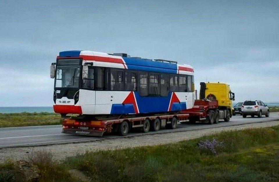 По улицам Евпатории начали ходить новые трамваи