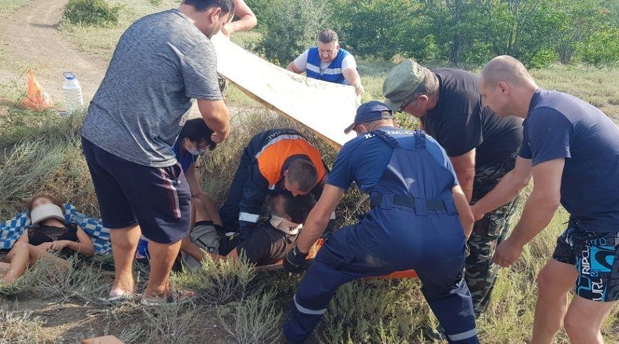 Два туриста упали с лошади в овраг под Судаком