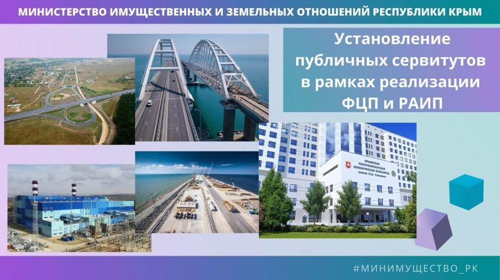 Минимущество Крыма продолжает работу по установлению публичных сервитутов для строительства и реконструкции социально значимых объектов Республики Крым