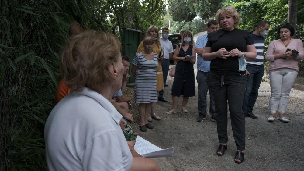 Янина Павленко встретилась с жителями западного района Большой Ялты