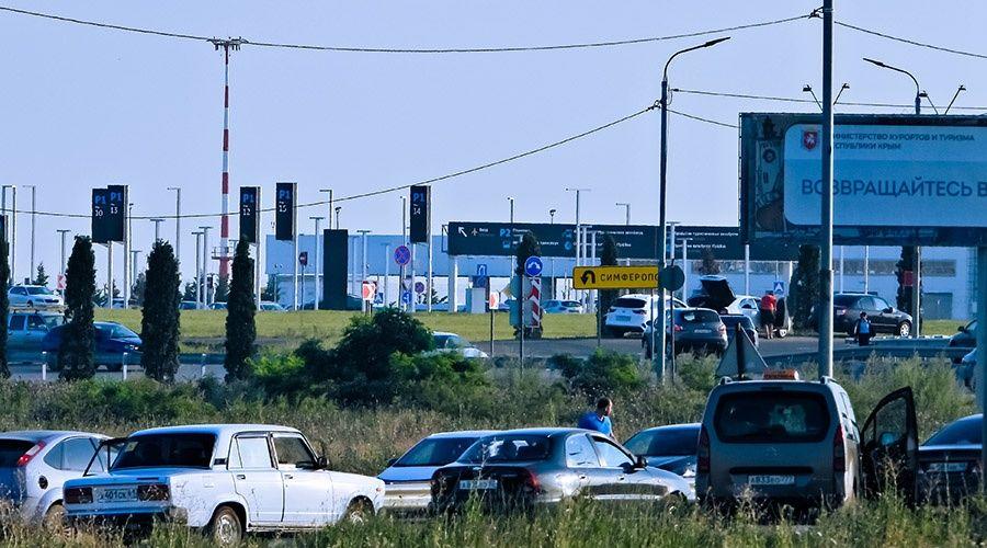 МВД рассказало о виновнике образования затора на подъезде к аэропорту Симферополь