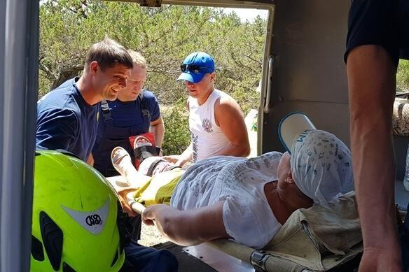 Туристка повредила ногу на горе Караул-Оба