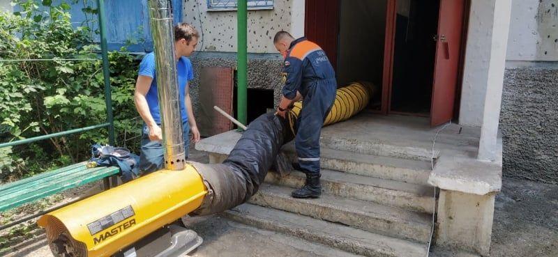 В Ялте закупают новые тепловые пушки для просушки пострадавших от наводнения помещений