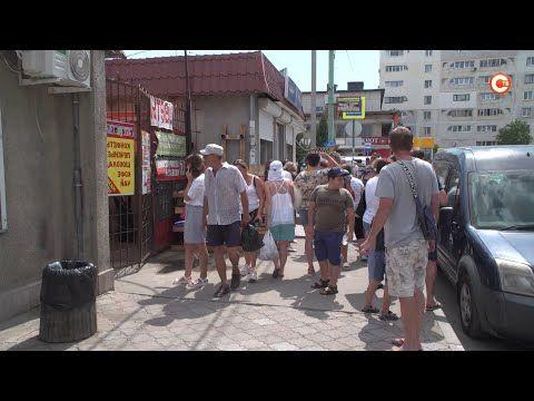 На Шевченковском рынке произошел пожар (СЮЖЕТ)