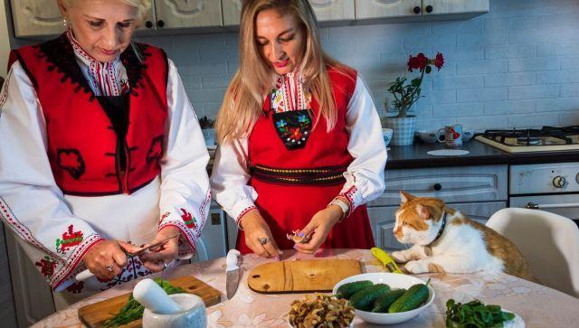 Для кота Мостика приготовили настоящую крымскую болгарскую окрошку