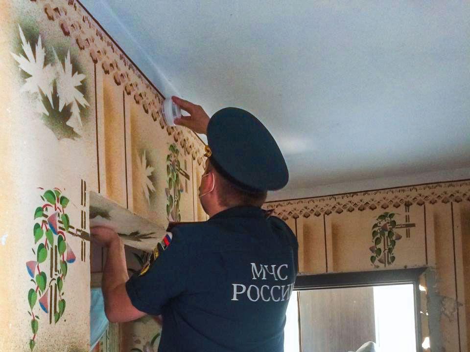 В Крыму продолжается установка пожарных извещателей