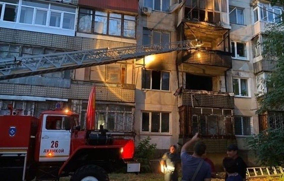 Ночной пожар в Крыму унес жизнь одного человека