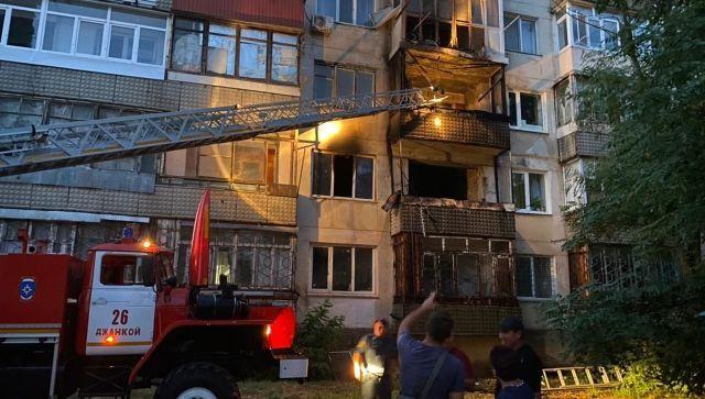 Ночью в Крыму горела пятиэтажка: есть погибший