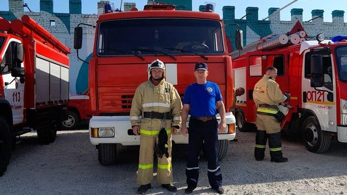 Сотрудники ГКУ РК «Пожарная охрана Республики Крым» приняли участие в пожарно-тактическом учении на форуме «Таврида» в г. Судак