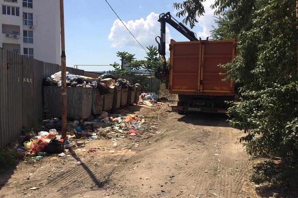 Феодосия оказалась завалена мусором после Дня города