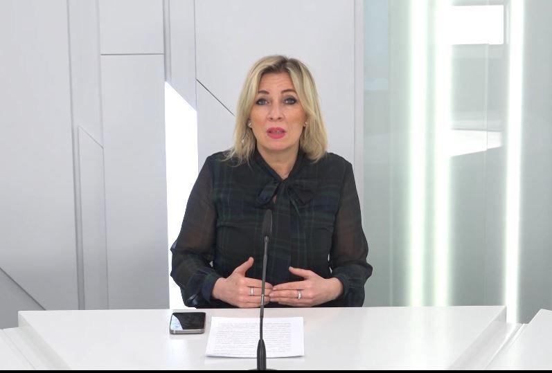 Захарова прокомментировала заявление министра иностранных дел Украины о «камнях с неба»