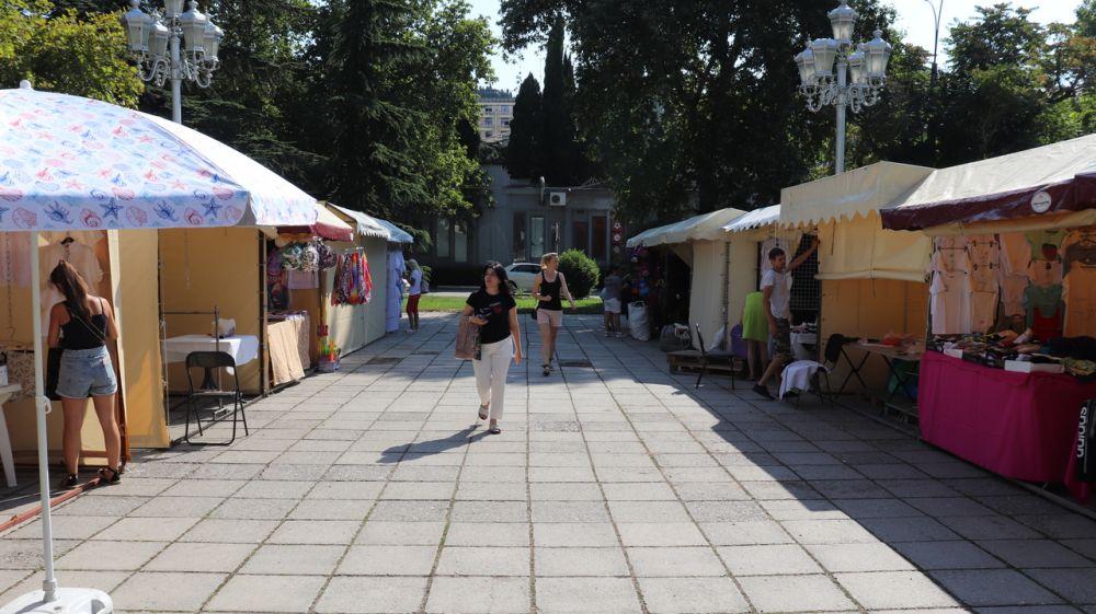 В Ялте открылась ежегодная школьная ярмарка