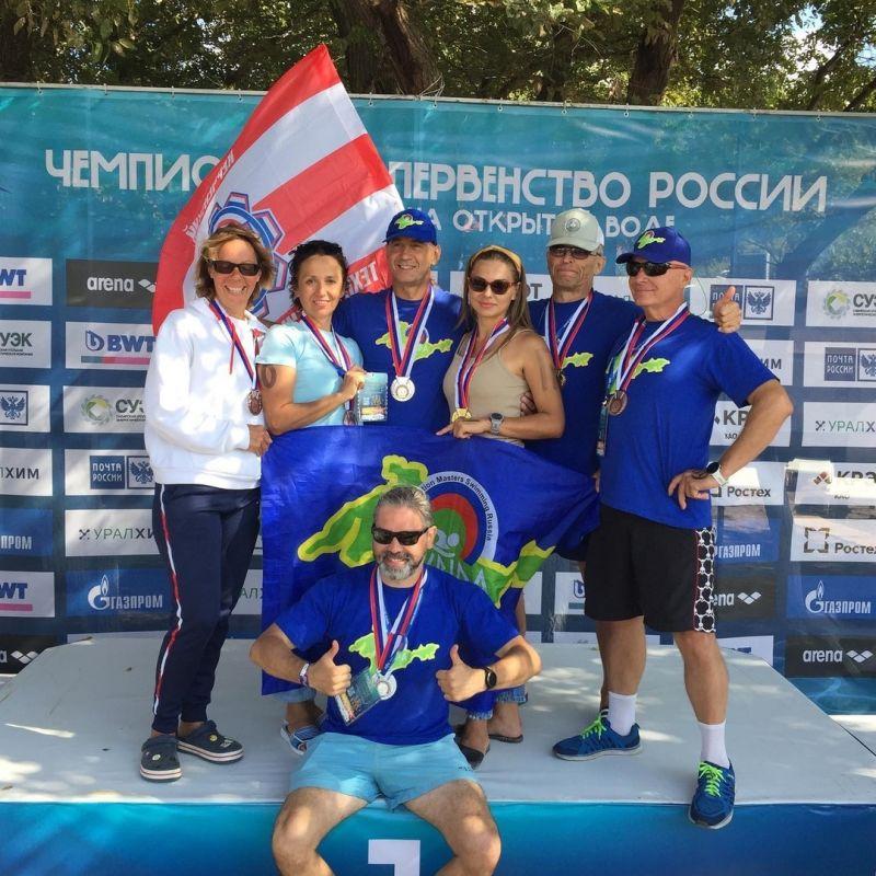Крымчане завоевали 7 медалей на Чемпионате России по плаванию на открытой воде